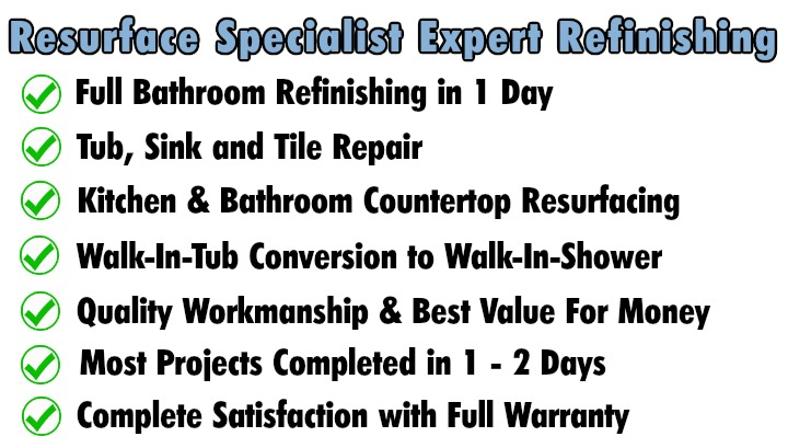 tub and tile Refinishing reglazing port st lucie, Stuart FL