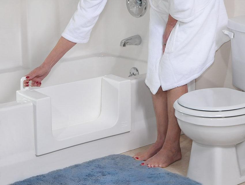 ... Refinishing Conversion Bathtub With Door ...